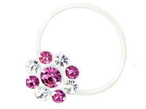 Zehenring Zirkonia Blume klar rose - 925 Sterling Silber - Fuß Schmuck Damen Fuß-Ring Toe-Ring