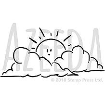 A3 Sol y Nubes Plantilla de Pared / Estarcir (WS00010839)