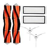 Kit di accessori per XIAOMI MI Robot pezzi di ricambio per aspirapolvere 2 Pz Main 2 pezzi Spazzola per denti di lato 2 pezzi HEPA Filter