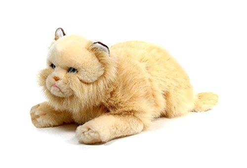 Gato tumbado beige de peluche (45 cm)