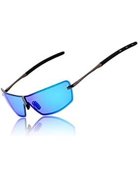 RONSOU Hombres UV400 Sin marco Aluminio-Magnesio Polarizadas Gafas de Sol Para Conducir Pesca Golf Al Aire Libre