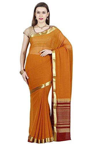 arars mysore silk sarees shiffon creape ( CRP01 MUSTARD )