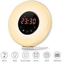 Wake Up Light Alarm Clock - KOBWA Sunrise Alarm Clock,Sunrise Sunset Simulator Digital Alarm Clock, With FM Radio... preisvergleich bei billige-tabletten.eu