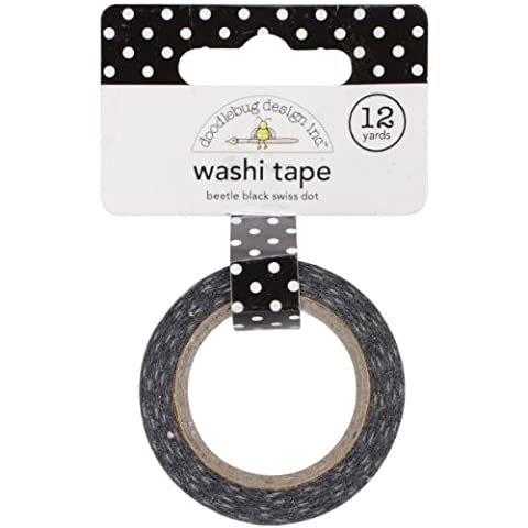 Doodlebug 15 mm Swiss Dot Washi Tape, Beetle