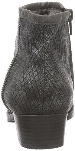 Rieker 76689, Bottes femme Gris - Grau (fumo/grau/granit / 46)