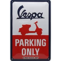 Nostalgic-Art Vespa de Parking Only Cartel de Chapa, Metal,, 20 x 30 cm