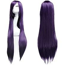 100 cm Cosplay larga recta peluca Completo Wig
