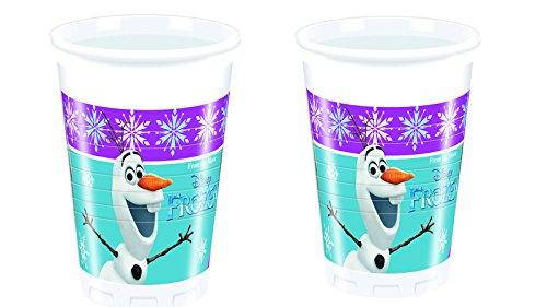 Disney 8 Becher * Frozen Northern Lights Kindergeburtstag oder Motto-Party // Party Partybecher Pappbecher Cups Motto Eiskönigin Anna ELSA Olaf Anna Cup