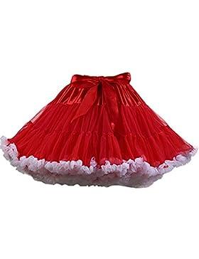 [Patrocinado]FOLOBE Traje de Tutú de Mujer Danza de Ballet Falda Hinchada de Múltiples Capas Adulto Lujoso Falda de Gasa Suave...