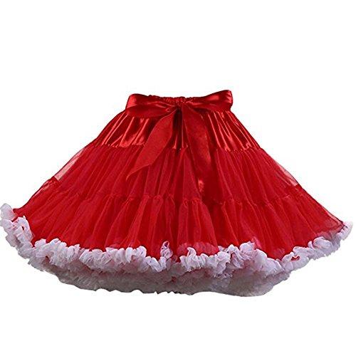 FOLOBE Erwachsene luxuriöse weiche Chiffon Petticoat Tüll Tutu Rock Damen Tutu Kostüm Petticoat Ballett Tanz ()