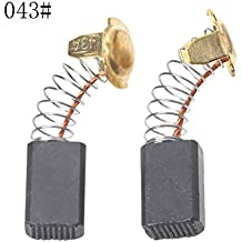 Schleifkohle 6,5mm x 13,5mm x 16mm f/ür Elektrowerkzeug Makita HS7101 LH1040F vhbw 2X Kohle-B/ürste Motorkohle LH 1040 F LF1000 LH 1040