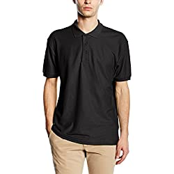 Fruit of the Loom 65/35 Pique Polo - Polo Hombre, Negro (Schwarz - Schwarz), X-Large