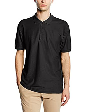Fruit of The Loom 65/35 Plain Pique Polo Shirts 5 colours Size S to 4XL (S, Black)