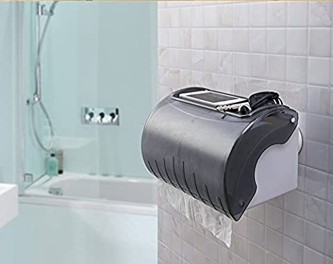 Plastic Strong Vacuum Sucker Waterproof Roll Paper Holder Long Hollow Cylinder Paper