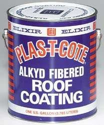 Plas T Cote - Alkyd Fibered Roof Coating, White Gallon - 45128-4 by Elixer Industries -