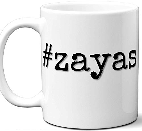 Zaya Kunst (#zayas Zayas Last Name Gift. Cool Surname Mug. Unique Personalized Tea Cup Stamp Sign Family Reunion Men Women Birthday Mothers Day Fathers Day Christmas Coworker.)
