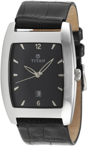 Titan Classique Analog Black Dial Men's Watch - NE9171SL02J image