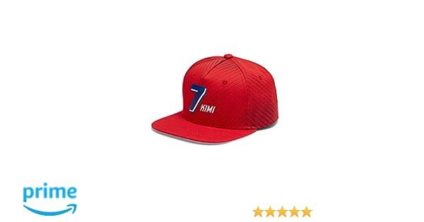 Ferrari Kimi Raikkonen Flatbrim Cap Red 2018 Scuderia  Amazon.co.uk   Clothing c90665c6f972