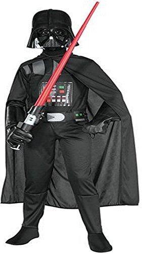 Rubie's Star Wars Kinder Kostüm Darth Vader Overall Maske Gr. S 3 bis 4 Jahre