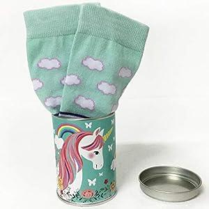 ARTEMODEL Unicornio Verde calcetín Bote, Color (1)