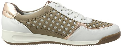 Ara Ladies Roma Low-top White (bianco, Rosetta / Taupe)