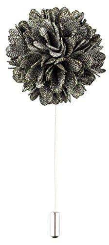 Product Proper Schwarz und weiß Polyester Patterned Nelke Blume Handarbeit Anstecknadel Ansteckblume Zu Hochzeitsanzug