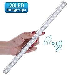 Idea Regalo - LOFTer Luce Wireless a 20 LED con Sensore, Alimentata a Batterie (non incluse), 3 Modalità, Luce Notte per Armadio,Comodino,Corridoio (incluse 4 viti)