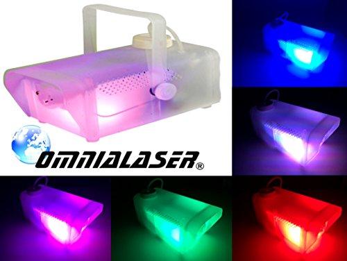 Nebelmaschine OmniaLaser mit LED RGB, integriertes Mikrofon und Fernbedienung–Effekt Licht Glow Party Nea (ol-f800led)