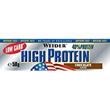 Weider 40% Protein Low Carb, Chocolate - Paquetes de 24 x 50 gr - Total: 1200 gr