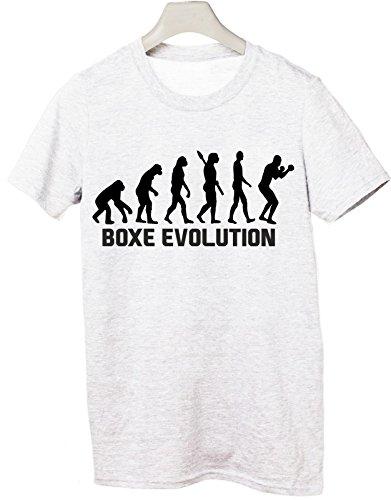 Tshirt Boxe Evolution - evolution - boxe - pugilato - sport - humor - in cotone Bianco