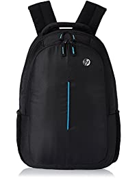 SSKK Polyester 15 Ltr Black-Blue Laptop Backpack