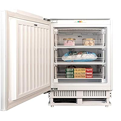 SIA RFU103 60cm 105L White Integrated Under Counter 3 Drawer Freezer A+ Rating