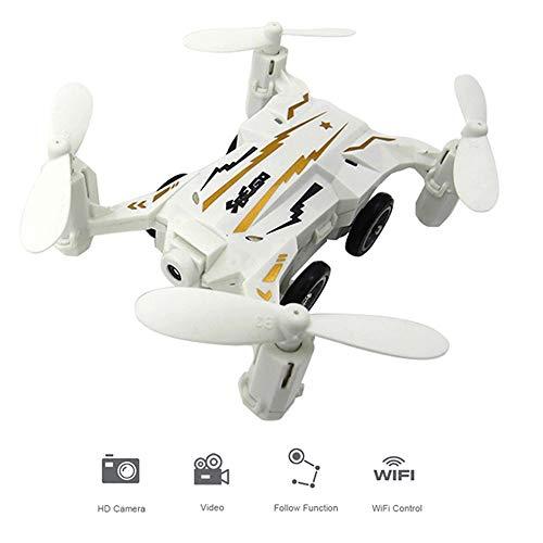 Mengen88 Mini FPV Drone RC Pocket Quadcopter 2.4 G giroscopio de 6 Ejes Tierra y Aire Modo Dual HD fotografía aérea WiFi transmisión de Imagen Modo sin Cabeza