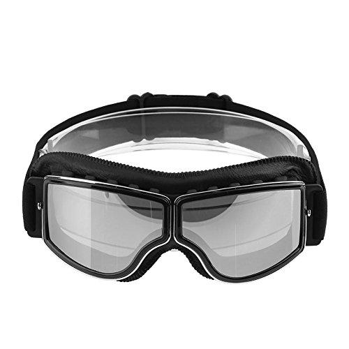 Retro Classic Anti-Fog UV-Schutz Schwimmbrille Outdoor winddicht Motorrad Brille, 1