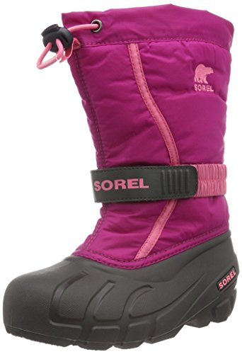 Sorel Jungen Youth Flurry Schneestiefel, Pink (Deep Blush/Tropic Pink), 39 EU (Fashion Stiefel Cold Weather)