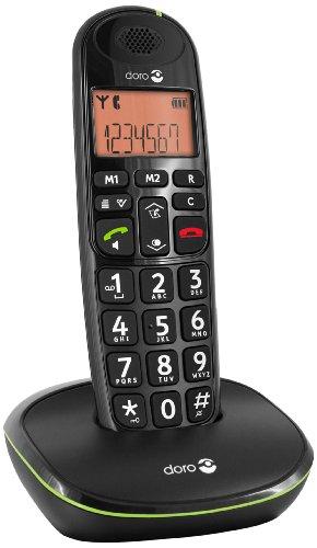 Doro PhoneEasy 100w DECT Schnurlostelefon Freisprechen schwarz