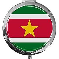 """metALUm - Extragroße Pillendose in runder Form""""Flagge Suriname"""" preisvergleich bei billige-tabletten.eu"""
