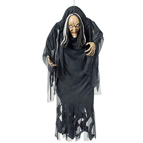 NET TOYS Deko Hexe Halloween Figur 140 cm Hexenfigur Horror Dekoration Magierin Schocker Artikel Grusel Raumdekoration