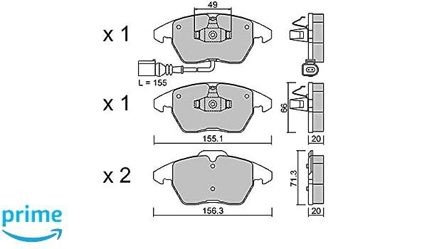 Pi/èce de Rechange pour Voiture Certifi/és ECE R90 Made in Italy Sans Cuivre metelligroup 22-0548-0 Plaquettes de Frein Avant et Derri/ère