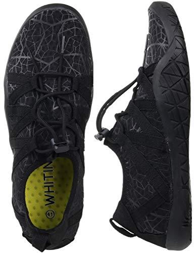 WHITIN Scarpe da Acqua Barefoot Uomo Scarpe da Trail Running Scarpe da Corsa su Strada Scarpe da Immersione Asciugatura Rapida Nero 43 EU
