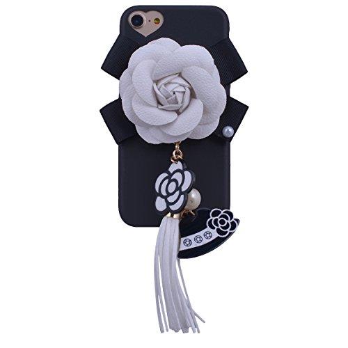 """WE LOVE CASE iPhone 6 / 6s Hülle Blume Kamelie Elegant Schön Style iPhone 6 / 6s 4,7"""" Hülle Schwarz Schutzhülle Handyhülle Weich Silikon Handytasche Ultra Dünn Flexibel Cover Case Etui Soft TPU Handy  White"""