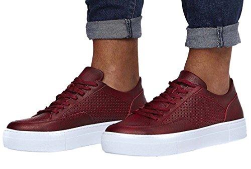 LEIF NELSON Herren Schuhe Freizeitschuhe elegant Winter Sommer Freizeit Schuhe Männer Sneakers Sportschuhe Laufschuhe Halbschuhe LN154; Größe 45, Bordeaux