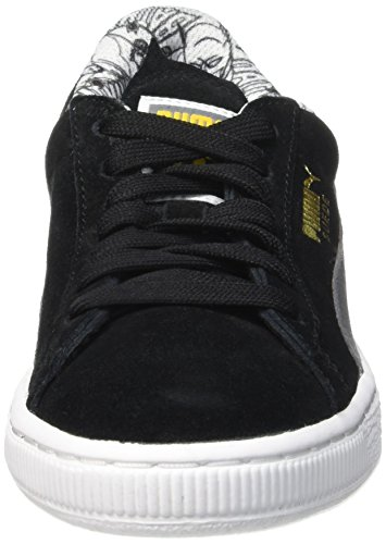 Puma Batman, Baskets Basses Garçon Noir (Black/Steel Gray)
