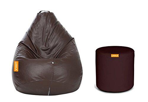 Orka XXL Bean Bag with Beans (Brown)