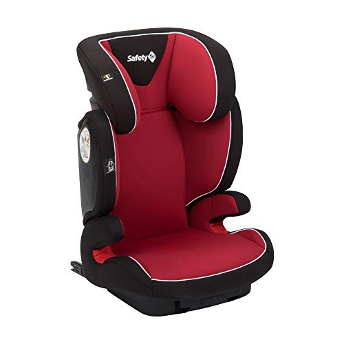 Safety 1st Road Fix-Kindersitz, Gruppe 2/3, praktischer Autositz mit ISOFIX-Installation, höhenverstellbar, nutzbar ab 3 - 12 Jahre, ca. 15 - 36 kg, full red (rot)