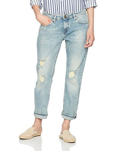 Tommy Jeans Damen  Cropped Lana  Straight Leg Jeans Blau (Greenwich Blue Comfort Destructed 911) W28/L32 - Distressed Cropped
