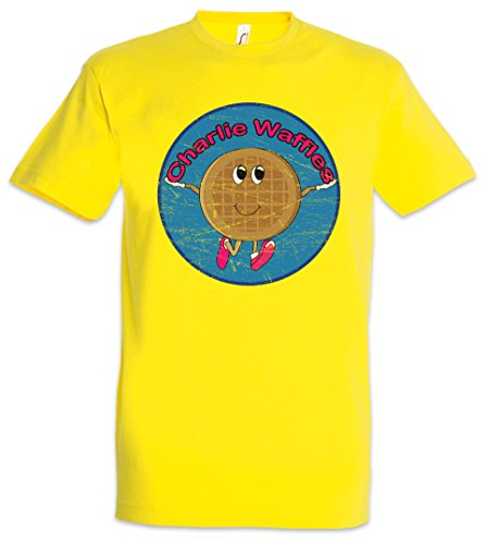 Charlie WAFFELS Herren T-Shirt Two Sheen and Harper A Kinderlieder Half Music Song Men Songs TV Series - Herren Waffel