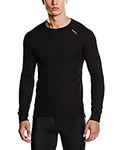 Odlo Herren Shirt Long Sleeve Crew Neck Warm, Black, XXL, 152022