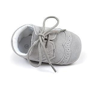 Auxma Baby Schuhe Baby-Jungen-Mädchen-Schuhe PU-Turnschuhe Für 3-6 6-12 12-18 Monat (6-12 M, Grau)