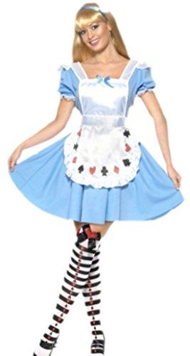 Faschingsfete Damen Dienstmädchen Pokergirl Kostüm, L, ()